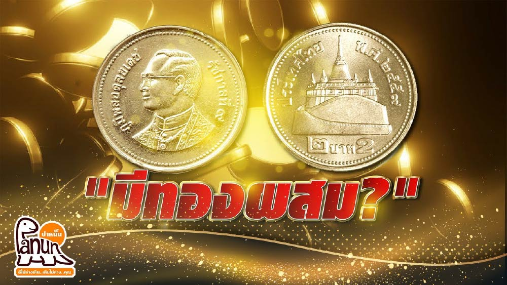 เหรียญ 2 บาทผสมทองคำ